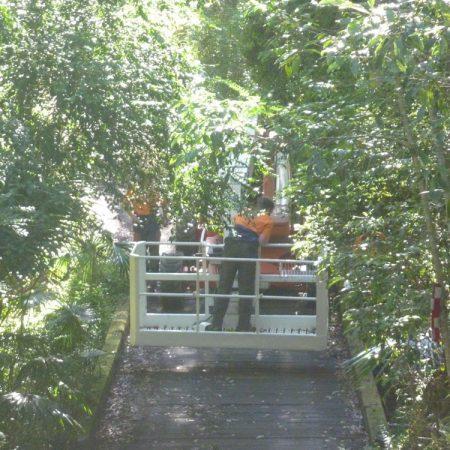 Access via old narrow bridge